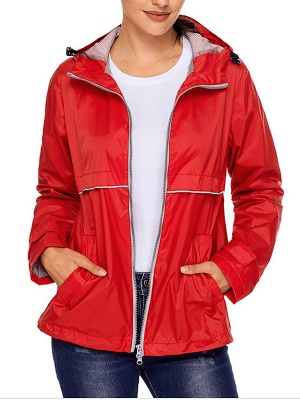 Shift Casual Long Sleeve Hoodie Zipper Pockets Solid Coat_1