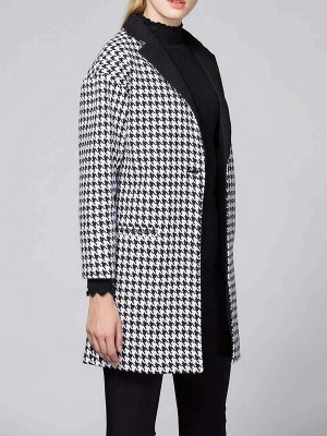 Black Shift Long Sleeve Buttoned Coat_7