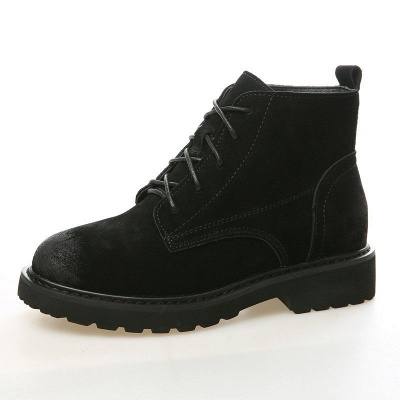 Grind Cowhide Leather Round Toe Lace-up Boots_10