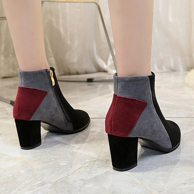 Zipper Chunky Heel Daily Pointed Toe Elegant Boots_5