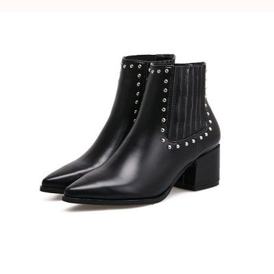 Chunky Heel Daily Pointed Toe Elegant Boots_4