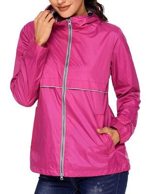 Shift Casual Long Sleeve Hoodie Zipper Pockets Solid Coat_12