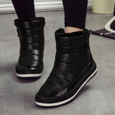 Wedge Heel Fall PU Daily Winter Boot_2