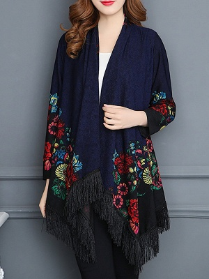 Floral Casual Long Sleeve Coat_3