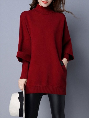 Knitted Wool Turtleneck Sweater_1