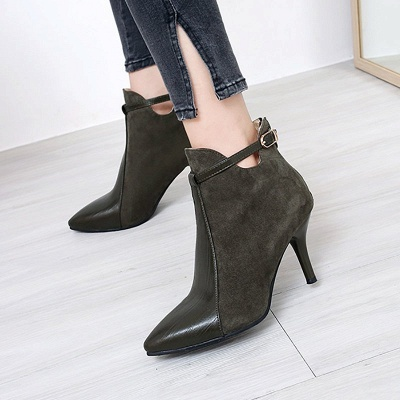 Buckle Stiletto Heel Daily Elegant Boots_5