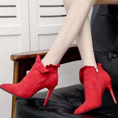 Suede Stiletto Heel Zipper Boots_7