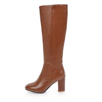 Zipper Chunky Heel Daily Round Toe Elegant Boots_1