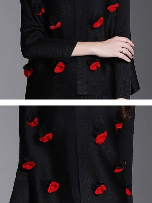 Long Sleeve Floral Casual Coat_8