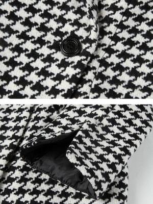 Black Casual Shift Printed Coat_5