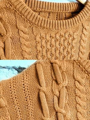 Geometric Crew Neck Long Sleeve Shift Casual Sweater_9
