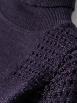 Cotton Eyelet Turtleneck Sweater_7