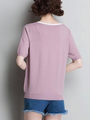 Sweater Shirt Collar Ice Yarn Knit Shift Daytime Knitwear_10