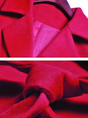 Long Sleeve Casual Lapel Buttoned Coat_8