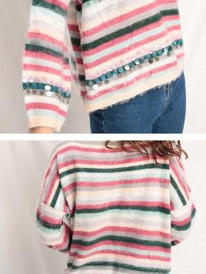 Multicolor Printed Casual Shift Sweater_5