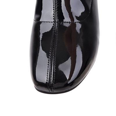 Chunky Heel Zipper Elegant Square Toe Boots_15