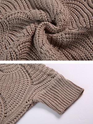 Casual Bateau/boat neck Batwing Sweater_6