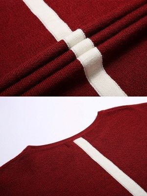 Casual 3/4 Sleeve Crew Neck Sweater_7