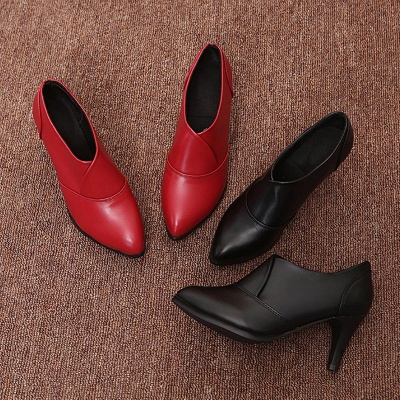 Daily Pointed Toe Cone Heel Elegant Boots_6