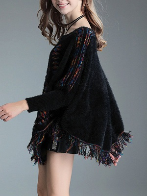 Crew Neck Casual Batwing Sweater_6