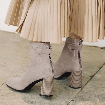 Zipper Daily Pointed Toe Elegant Boots_6