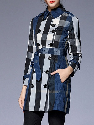 Shift Long Sleeve Checkered/Plaid Work Coat_3