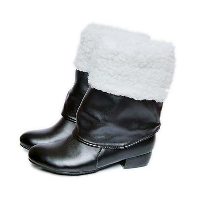 Chunky Heel Daily PU Round Toe Boot_7