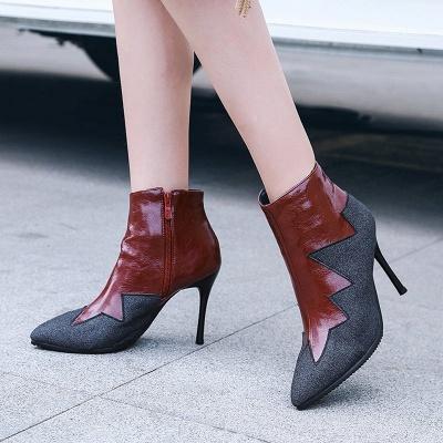 High Heel Zipper Sexy Boot_1