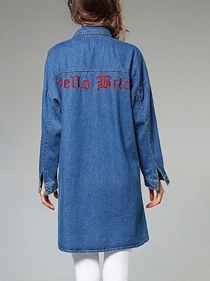 Long Sleeve Shift Casual Pockets Coat_10