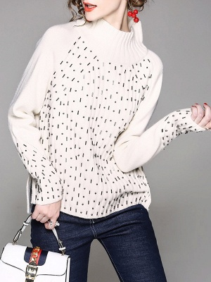 Casual Solid Long Sleeve Sweater_1