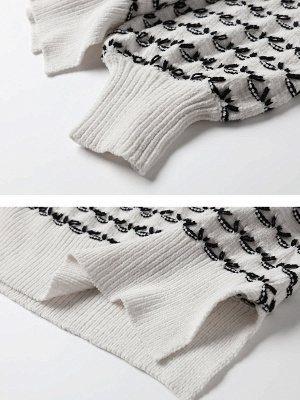 Crew Neck Long Sleeve Shift Casual Sweater_7