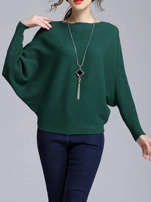 Wool Casual Batwing Sweaters_5