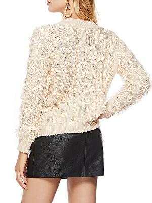 Long Sleeve Casual Geometric Sweater_4