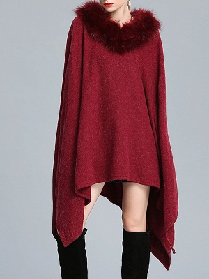 Casual Paneled Wool Shift Batwing Knit Top_1