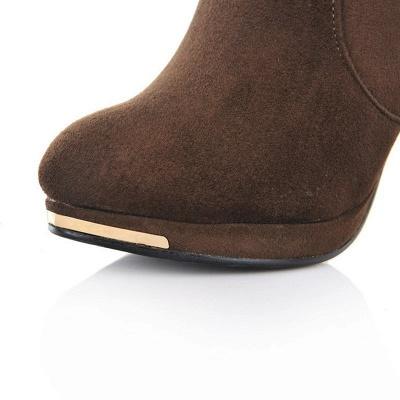 Women's Boots Stiletto Heel Flower Pointed Toe Elegant Black Boots_11