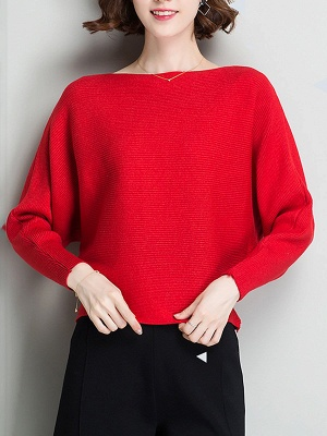 Casual Batwing Fringed Sweater_9
