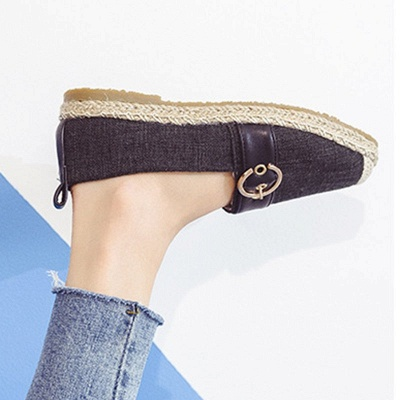 Women Canvas Flat Loafers Casual Comfort Shoes_18