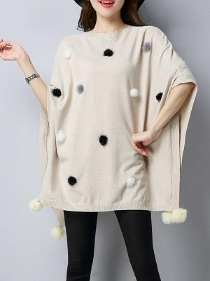 Wool Shift Casual Batwing Sweater_1