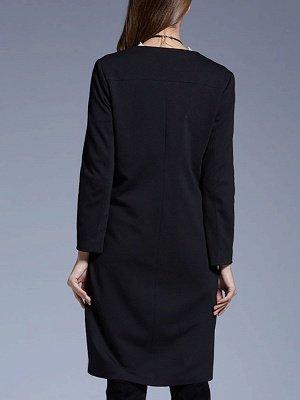 White Buttoned Elegant Printed Coat_3