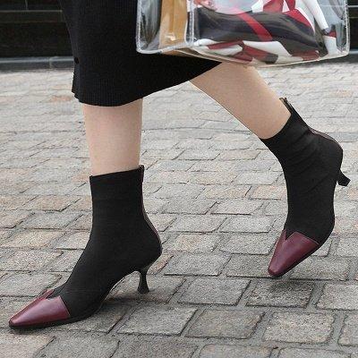 Zipper Leather Kitten Heel Boot_1