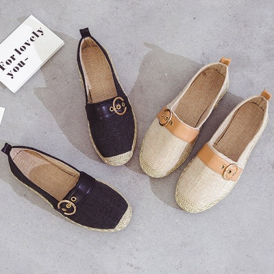 Women Canvas Flat Loafers Casual Comfort Shoes_13