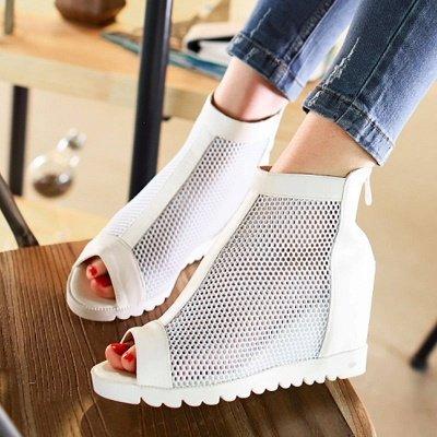 Zipper Daily Peep Toe Wedge Heel Boots_6