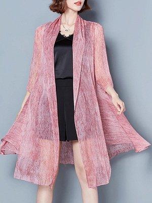Asymmetrical Elegant Chiffon Coat_1