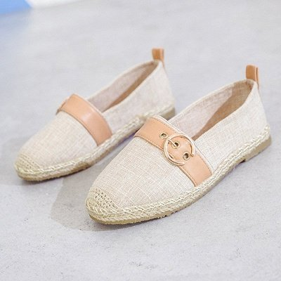 Women Canvas Flat Loafers Casual Comfort Shoes_1