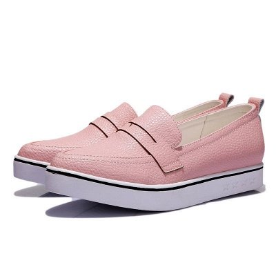 Casual  Pointed Toe Wedge Loafers_5