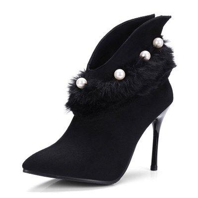High Heel Zipper Suede Boot_6