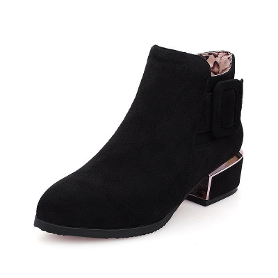 Chunky Heel Suede Button Boots_2