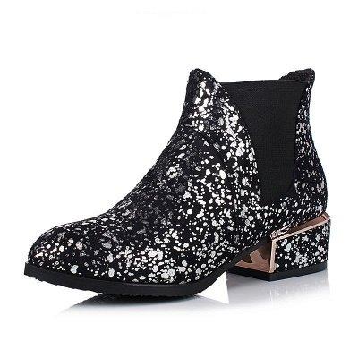 Chunky Heel Suede Zipper Boots_2