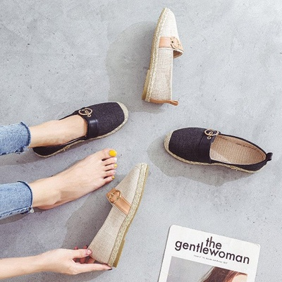 Women Canvas Flat Loafers Casual Comfort Shoes_7