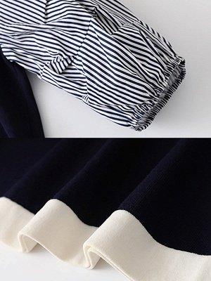 Royal blue Balloon Sleeve Shift Sweater_6